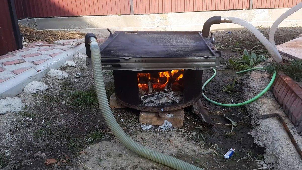 Как быстро нагреть бассейн при помощи автомобильного радиатора