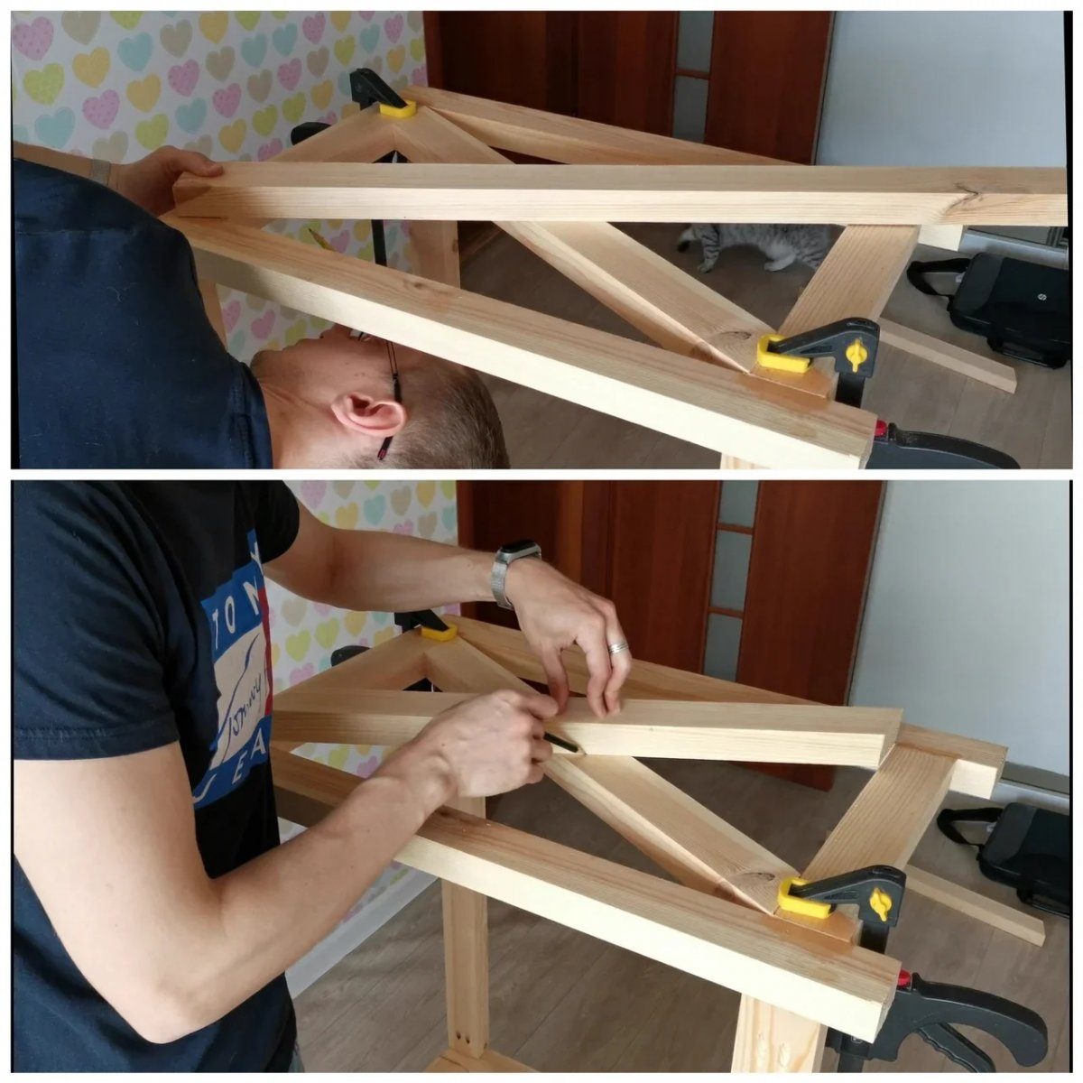 Как сделать компьютерный стол из массива