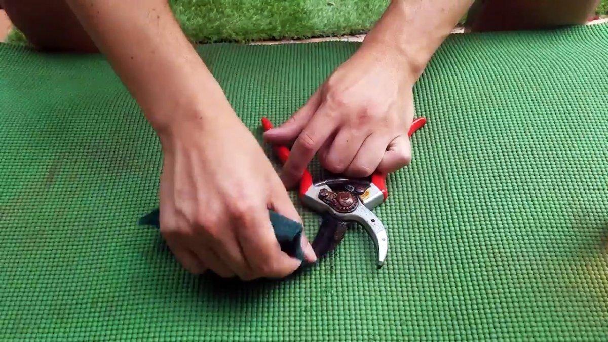 Как без разборки восстановить заржавевшие садовые ножницы