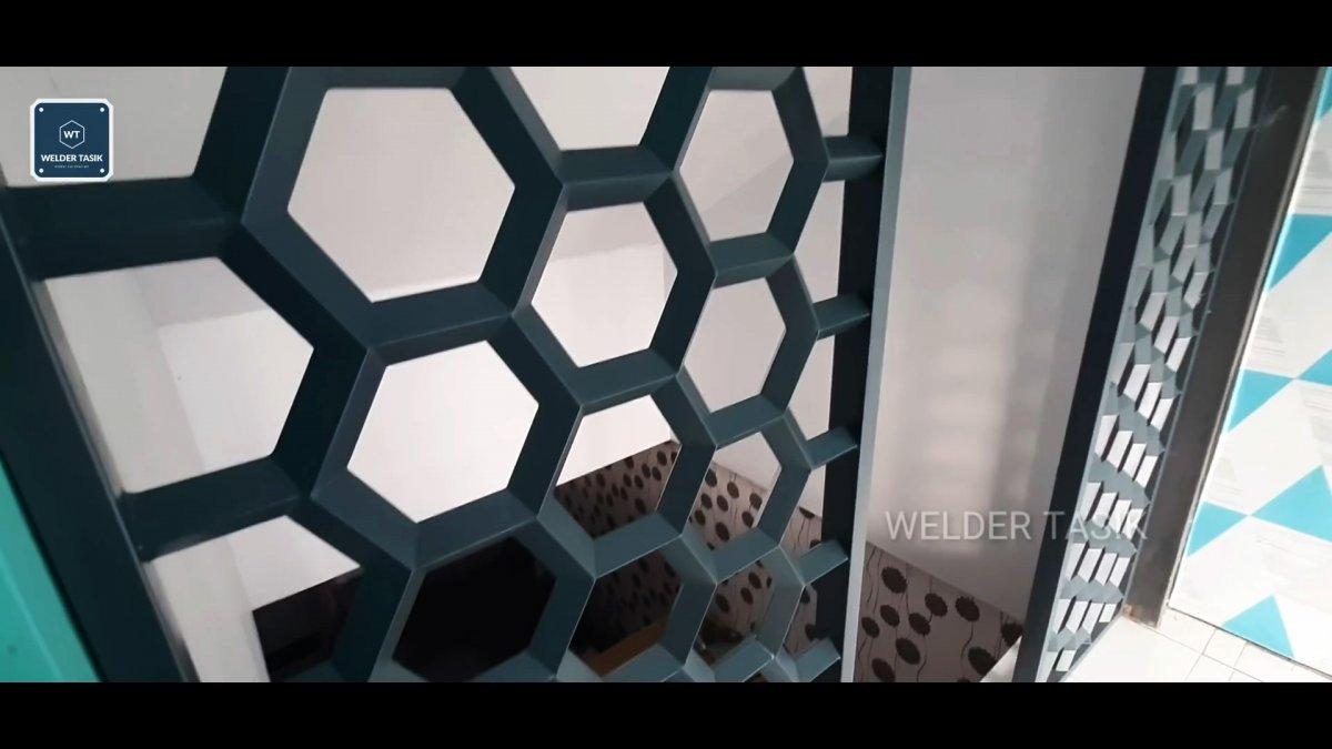 Как сварить красивую сотовую перегородку из квадратной профильной трубы