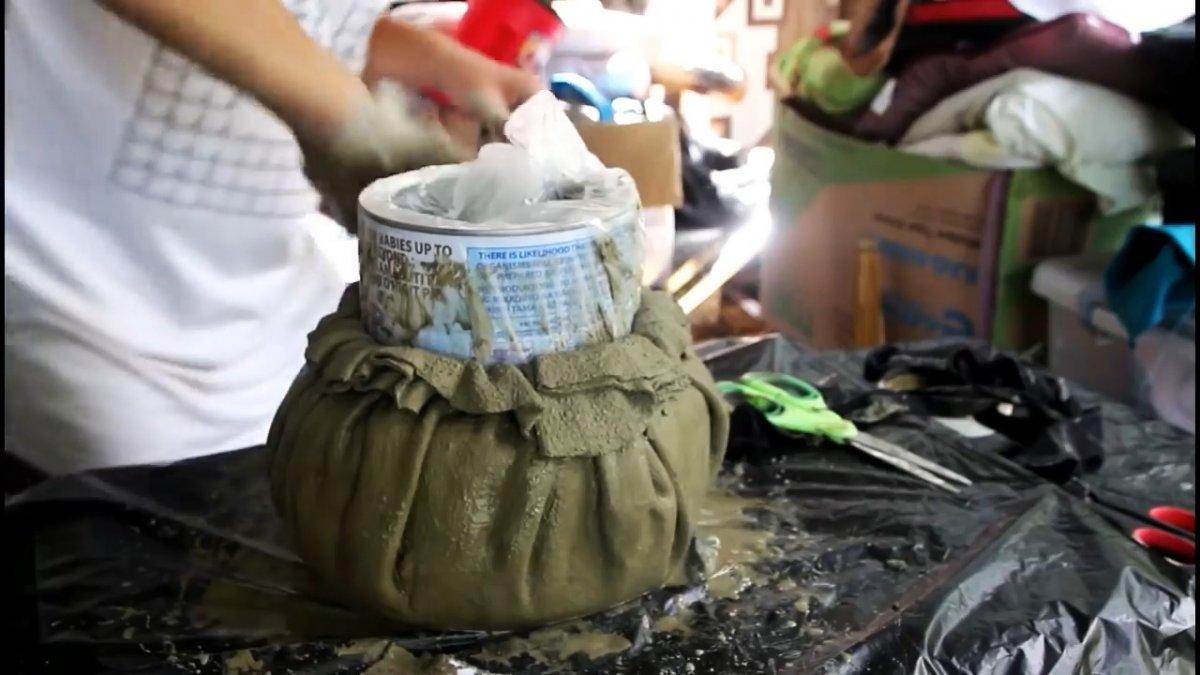 Теперь вы сможете сами делать красивые цементные горшки
