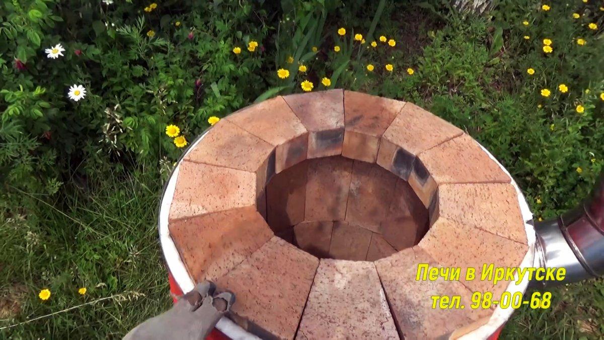 Делаем тандыр из бочки с утепленным подом без раствора