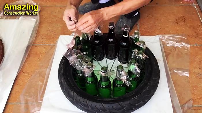 Вы не поверите насколько крутую вещь можно сделать из бутылок и цемента