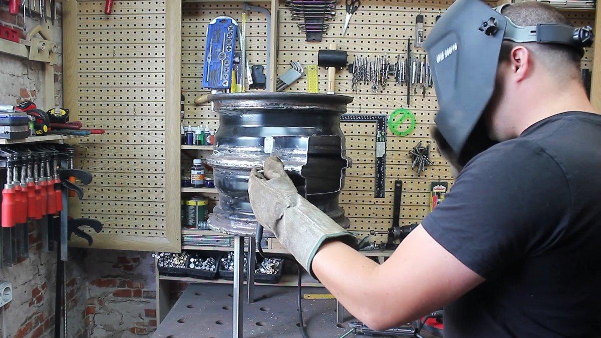 Как из колесных дисков сделать переносную печь под казан