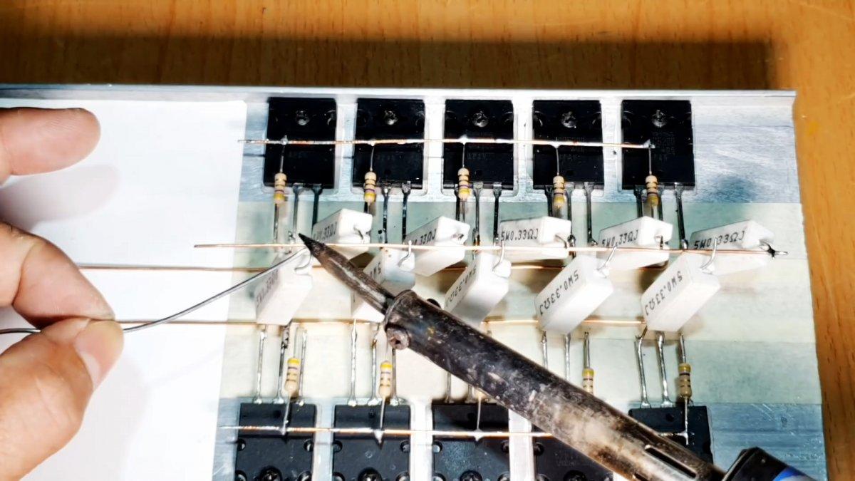 Собираем усилитель 500 Вт на транзисторах навесным монтажом