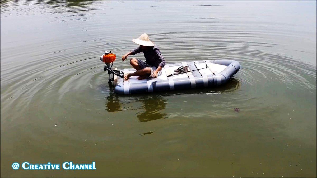 Как сделать легкую лодку из ПВХ труб за один вечер