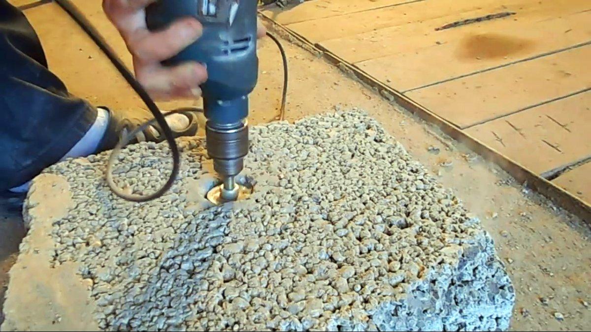 Быстрое изготовление коронки любого размера для сверления стены