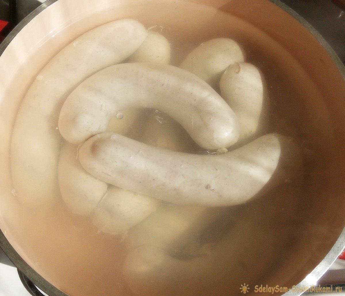Куриная колбаса с ветчиной в домашних условиях