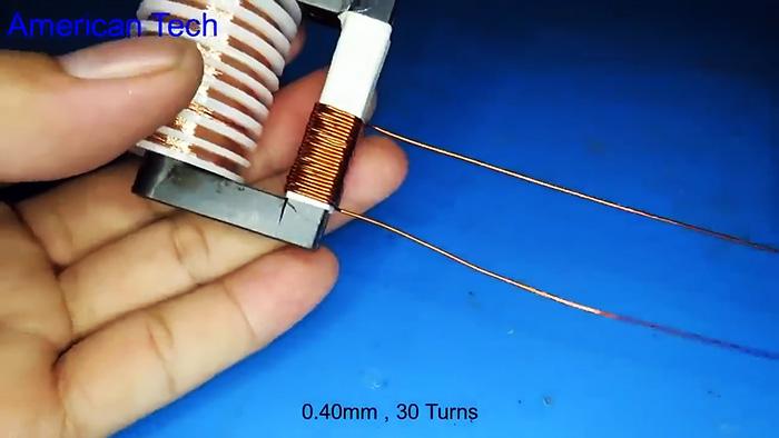 Как на одном транзисторе собрать простой преобразователь высокого напряжения 40 кВ