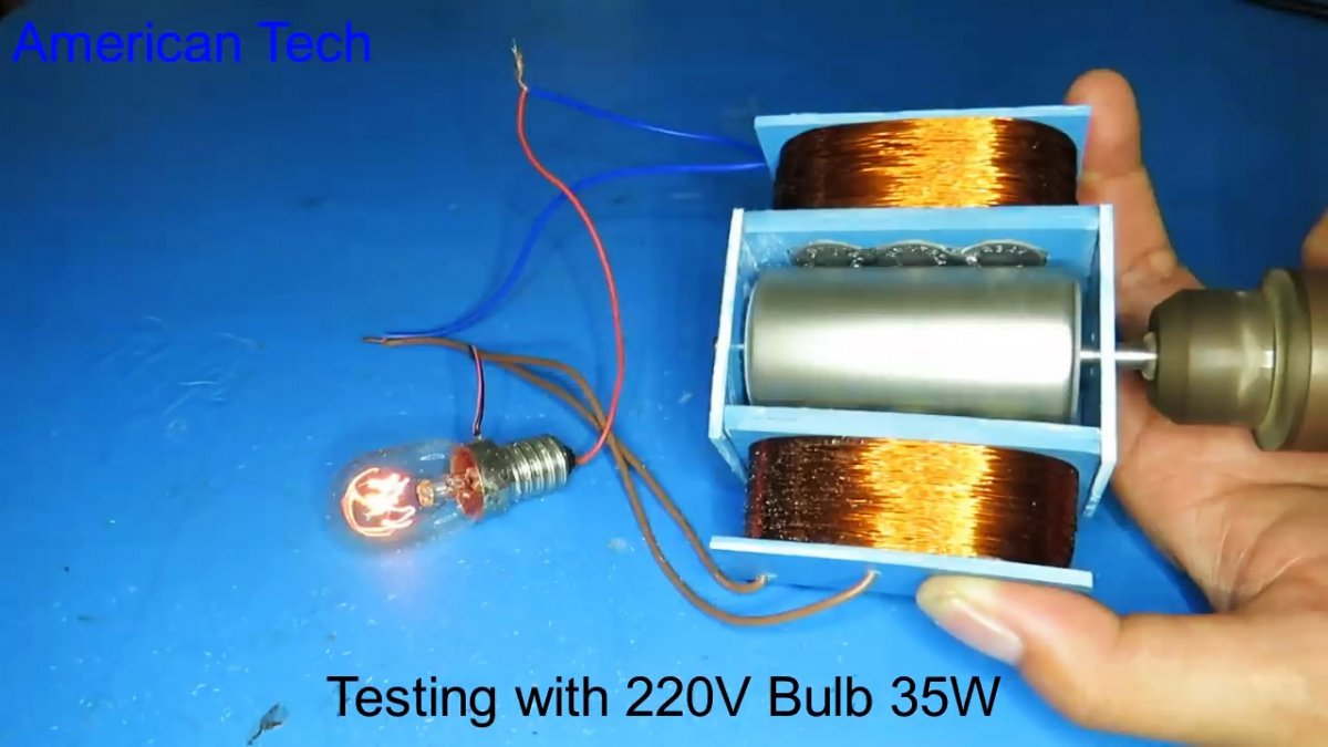 Как сделать простой генератор на 220В своими руками