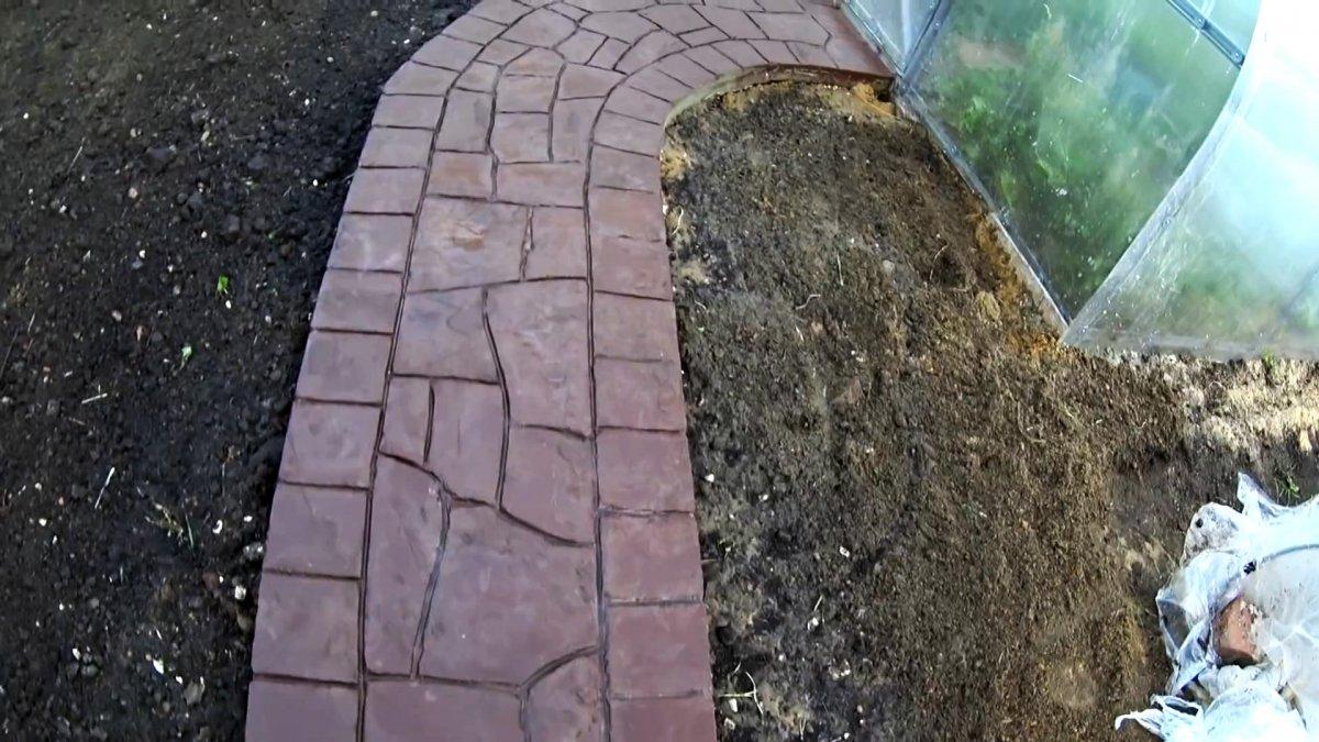 Бетонная садовая дорожка под камень своими руками это не сложно