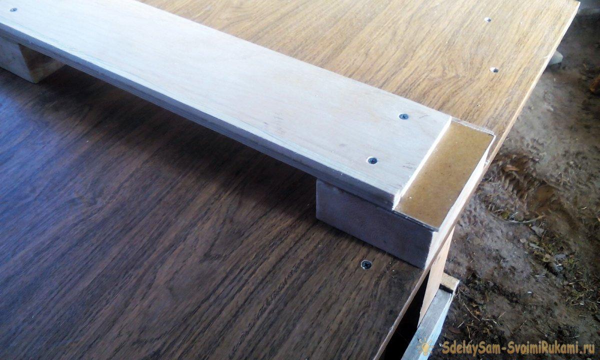 Удобный и простой верстак для торцовки досок