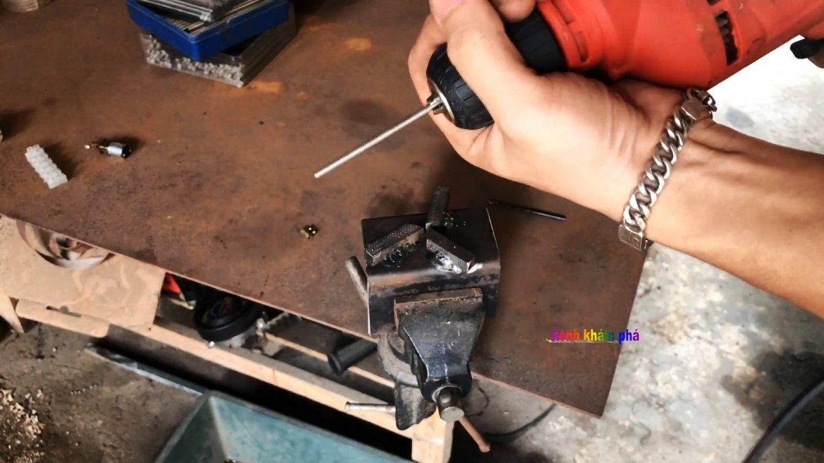 Как уменьшить диаметр стального прута без токарки