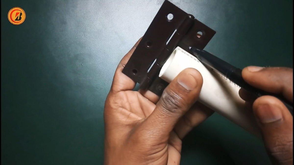Как из ПВХ труб сделать складную сушилку для белья