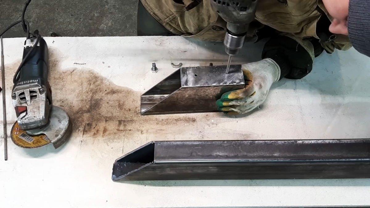 Как сделать шаблон для быстрой резки профильной трубы под углами 45 и 90 градусов