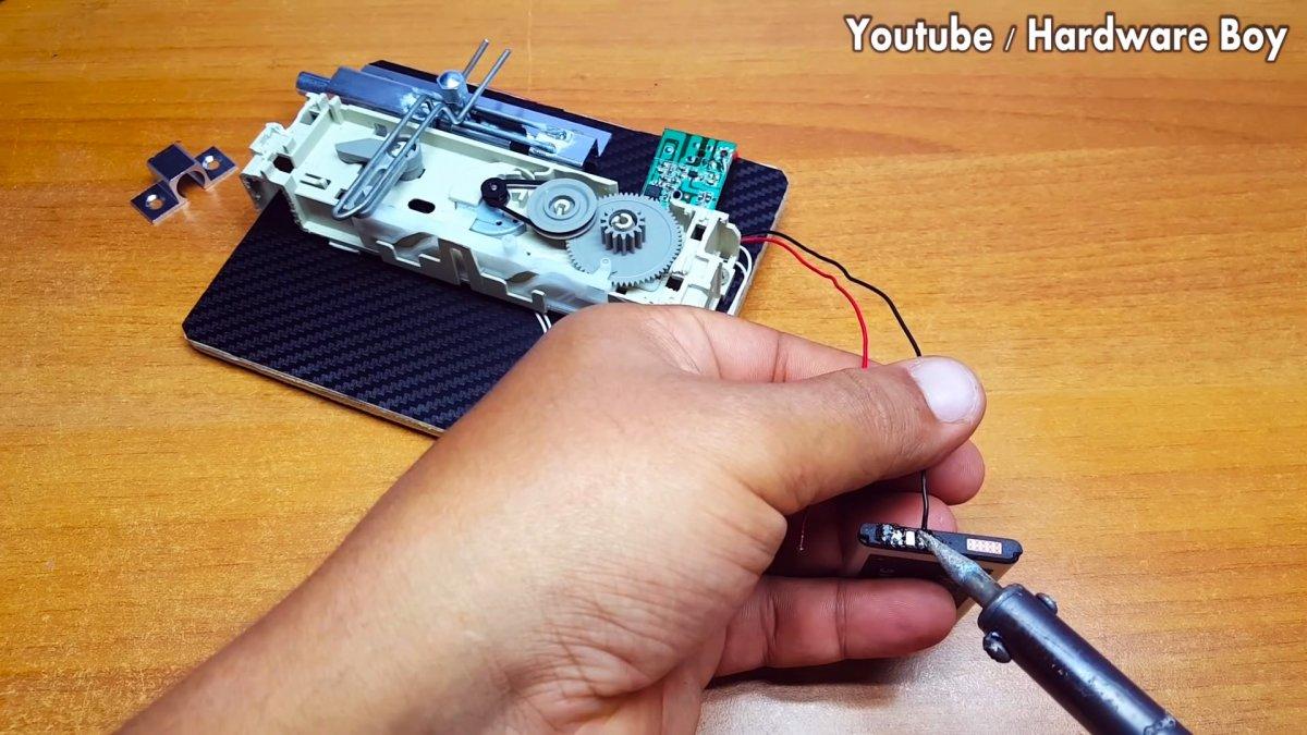 Как из DVD привода сделать электронный замок