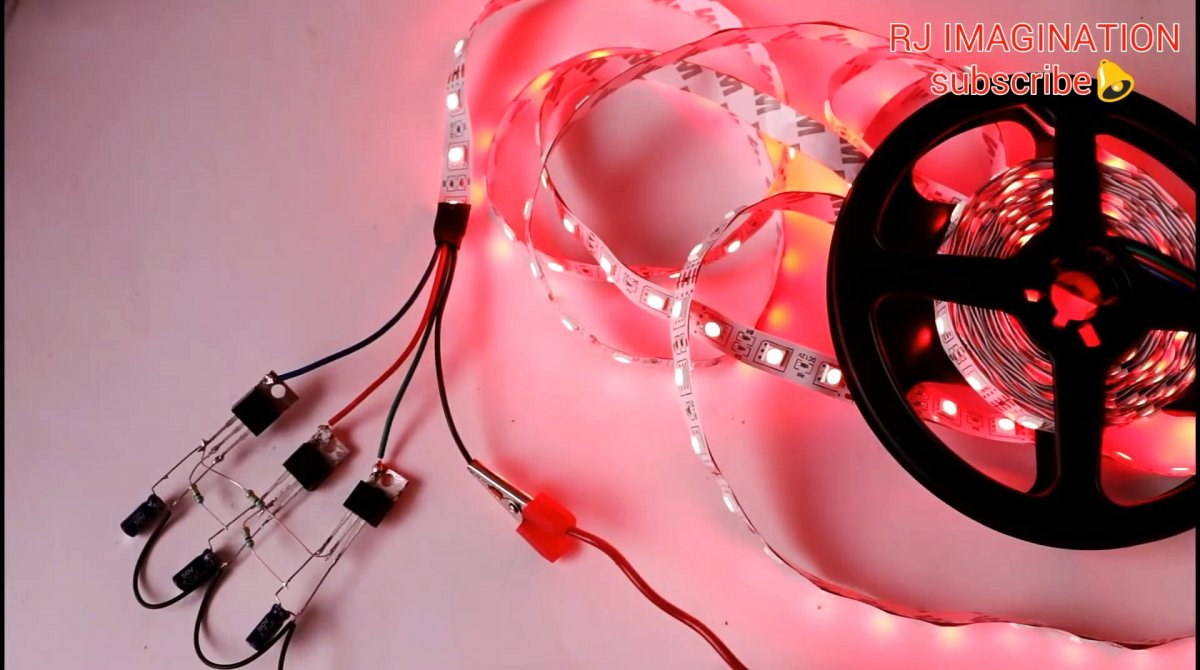 Как без микросхем, на трех транзисторах собрать контроллер переключения RGB ленты