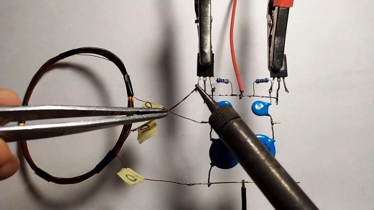 Как всего на 2-х транзисторах сделать металлоискатель «Бабочка»