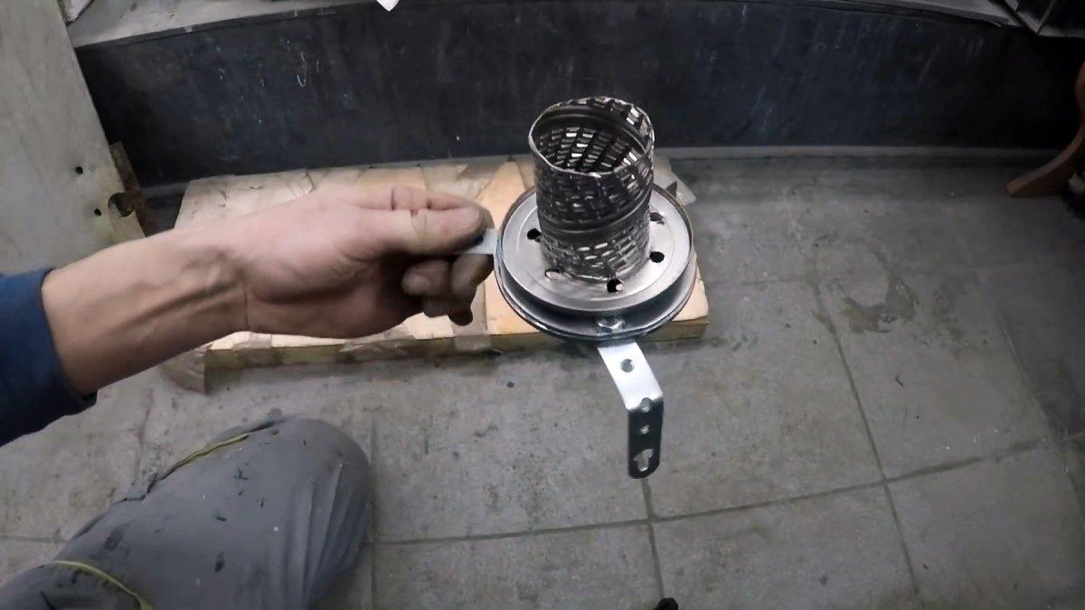 Как из масляного фильтра сделать обогреватель в палатку