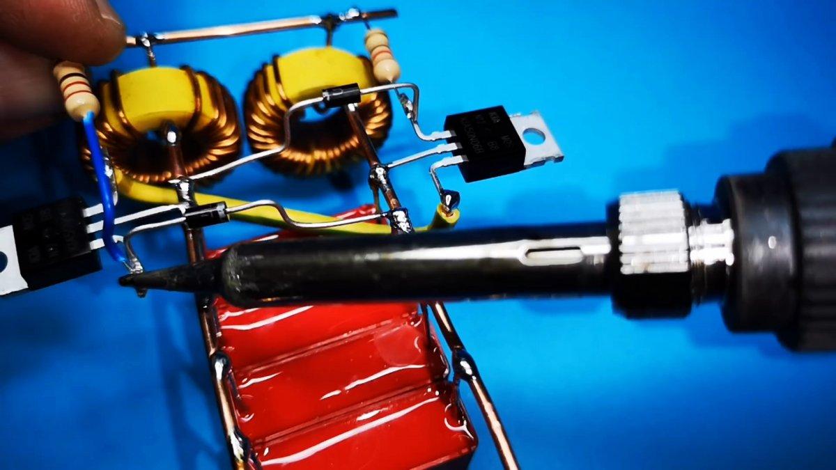 Как сделать простую индукционную плиту на двух транзисторах