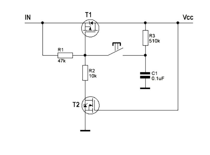 Управляем нагрузкой одной кнопкой. Как сделать мощный фиксируемый ключ на MOSFET