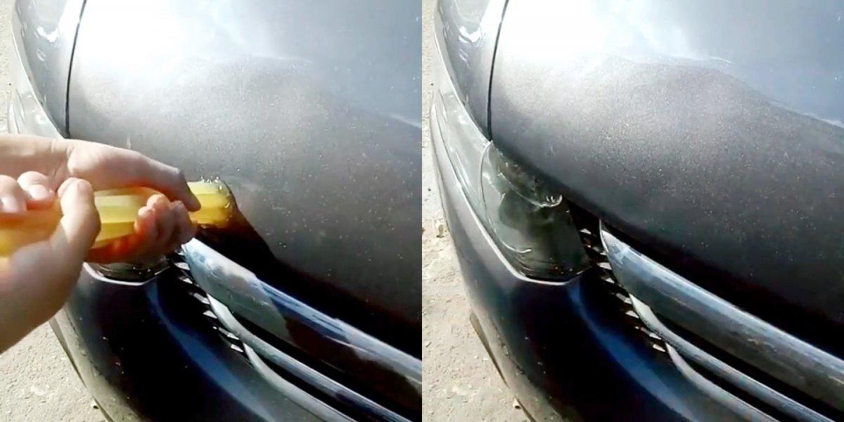 Как вытянуть вмятину на кузове автомобиля горячим клеем без покраски