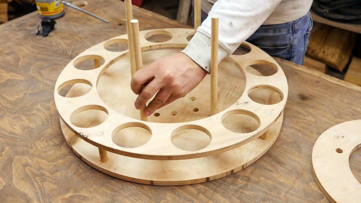 Как из старой ступицы сделать поворотный органайзер для инструмента