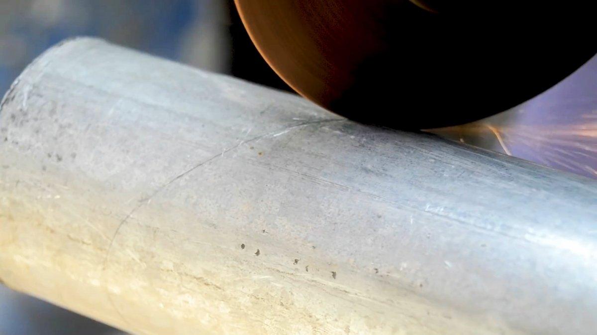 Как разметить трубу для точной обрезки под сварку колена 90 градусов