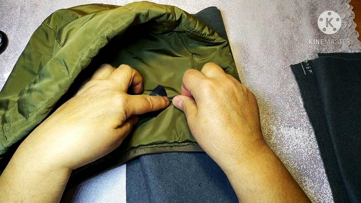 Как починить разрыв на куртке за пару минуты без иголки и ниток