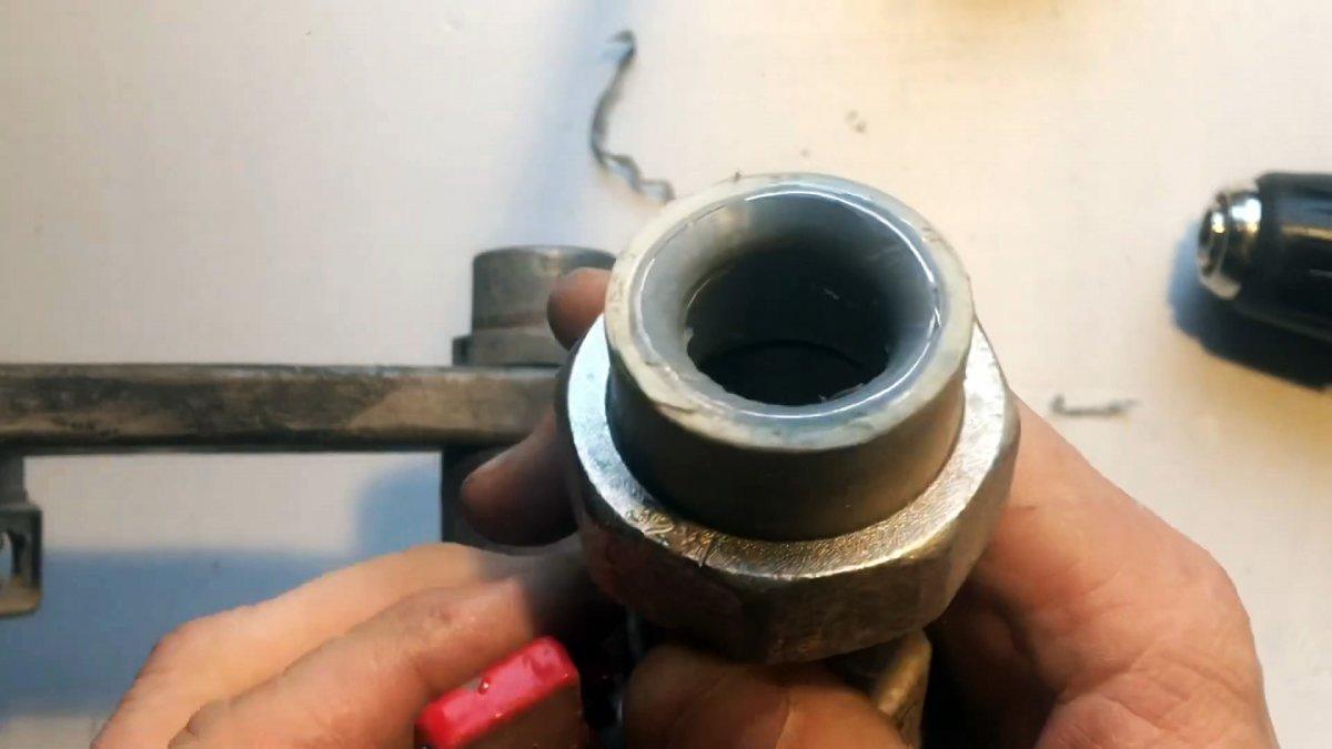Как восстановить использованный ПП фитинг для повторной пайки
