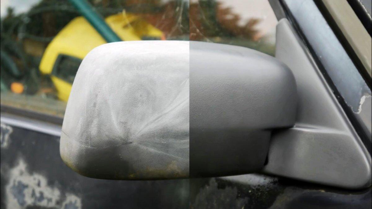 Как быстро и бесплатно восстановить поблекшие пластиковые части автомобиля