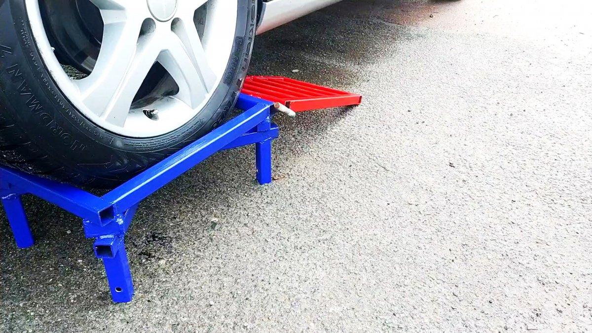Как сделать переносную мини эстакаду для машины
