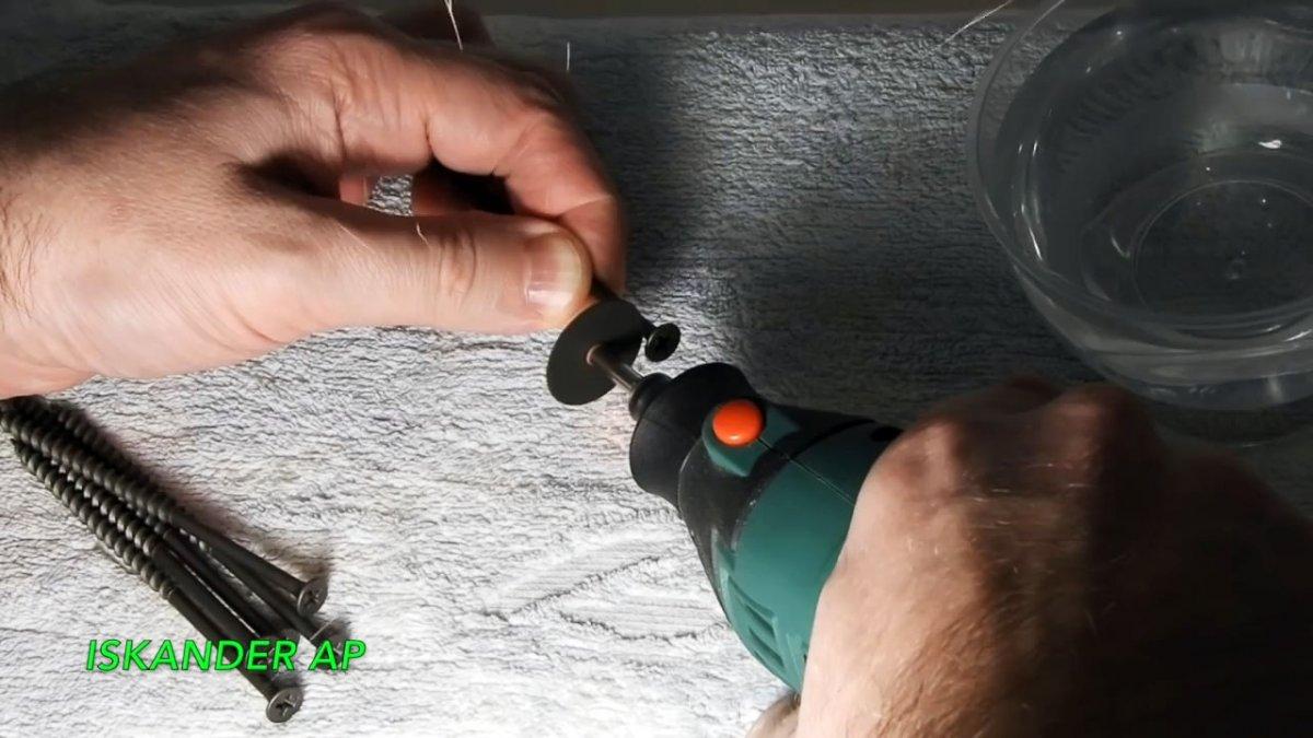 Как сделать мини резцы из саморезов