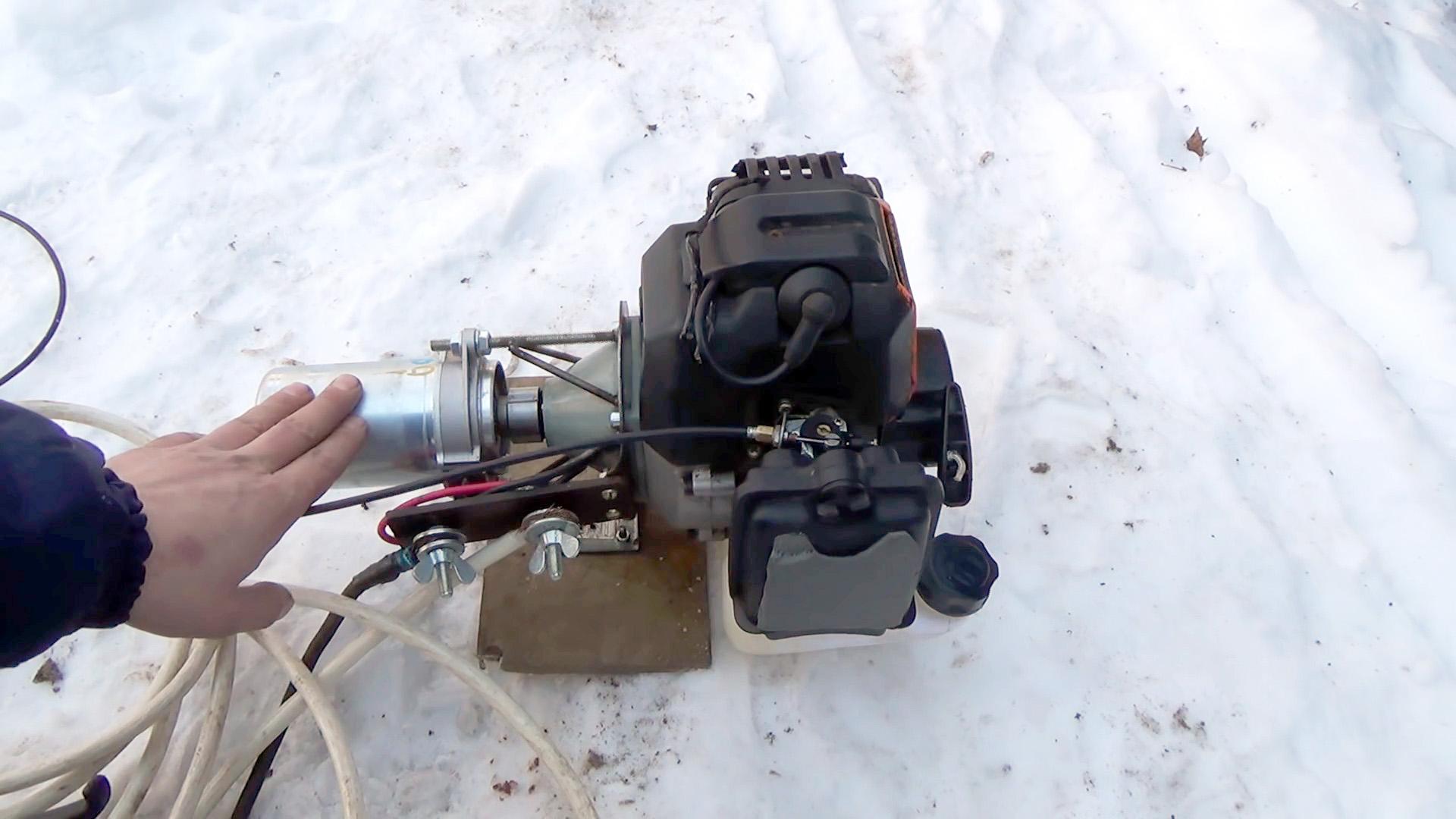 Сварочный генератор из двигателя мотокосы