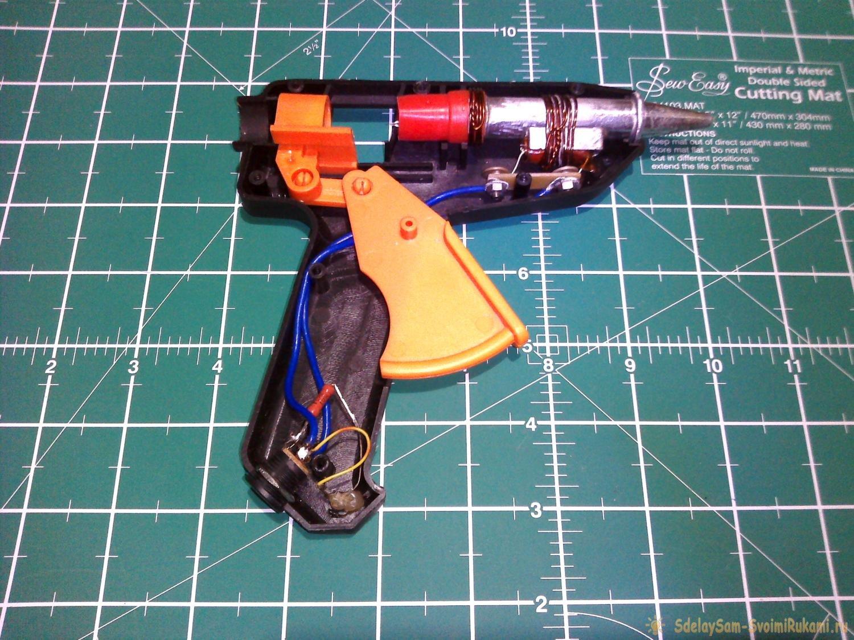 Как починить и переделать клеевой пистолет с 220 В на 12 В