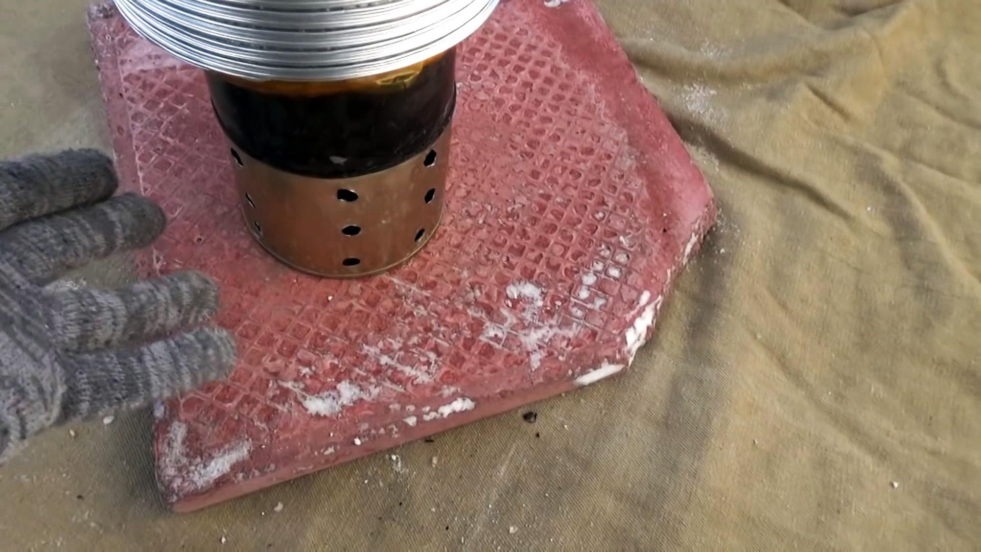 Походная мини печь длительного горения на сале своими руками