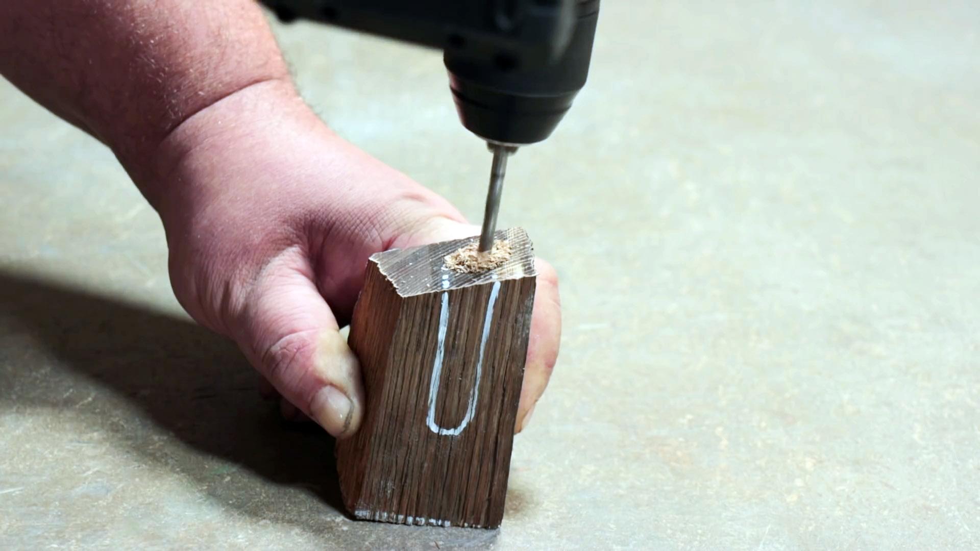 Как сделать светящуюся рукоять для ножа из эпоксидки и дерева