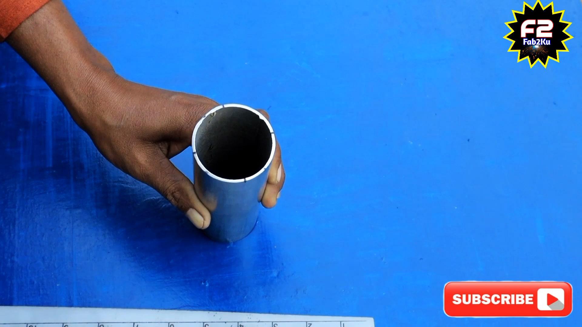 Как куском бумаги идеально разметить торец трубы под врезку 45 градусов