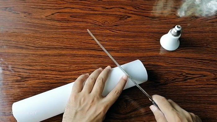 Как сделать садовый светильник из ПВХ трубы