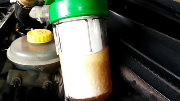 Установите фильтр антифриза и печка заработает на полную