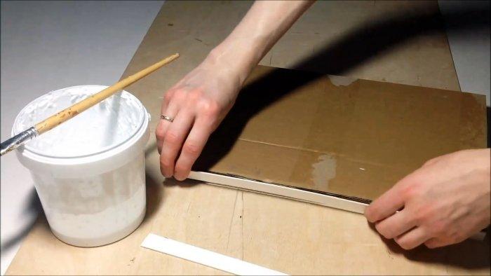 Как из картона сделать полку для шкафа