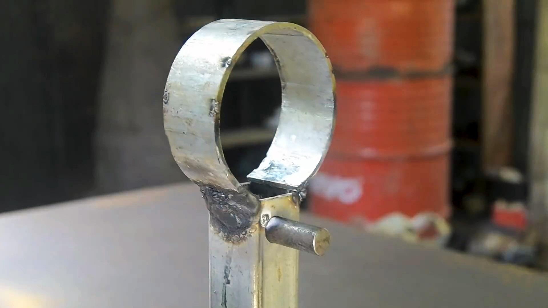 Как из трубы и профиля сделать ручной станок для гибки колец