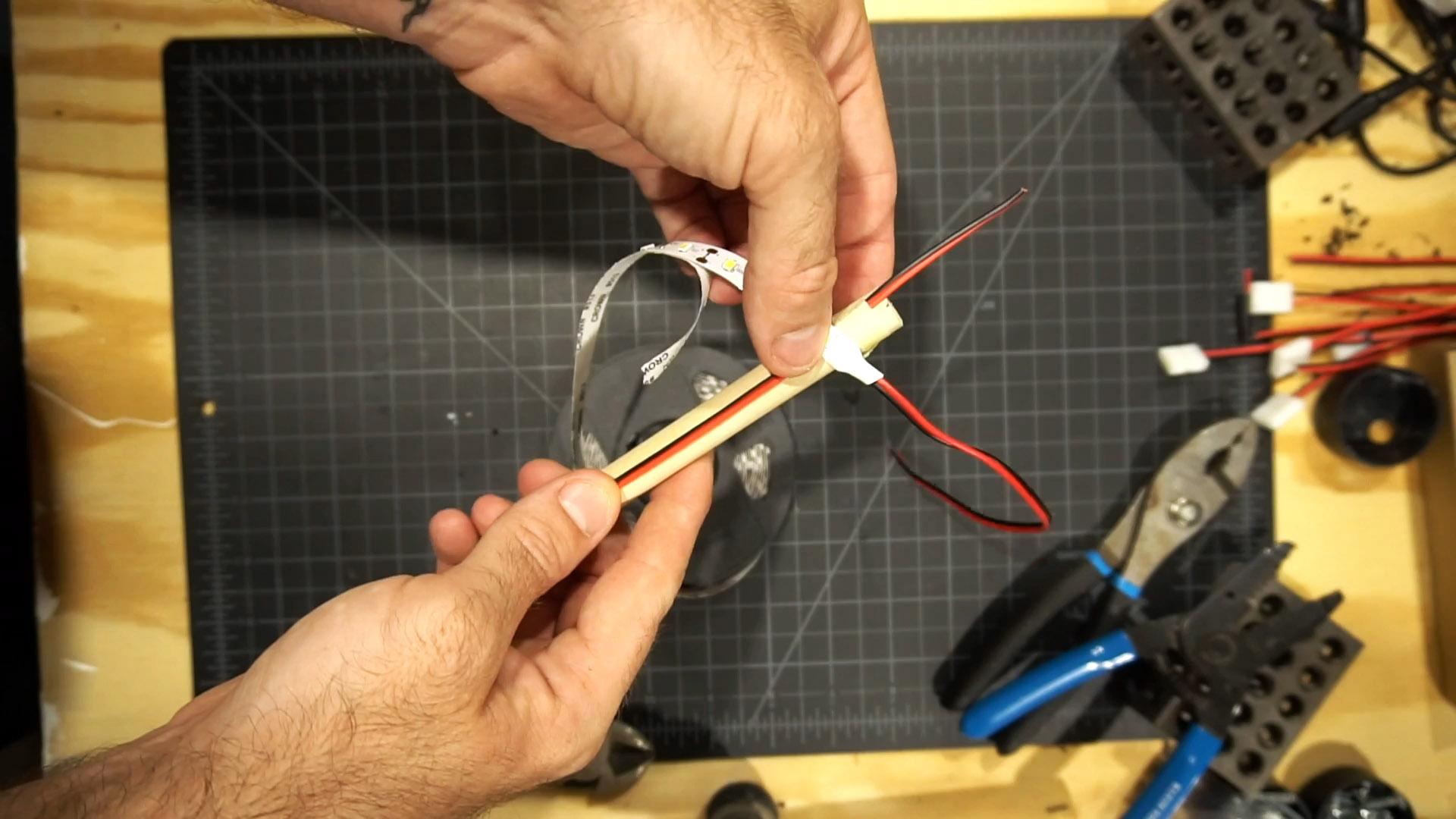 Как из светодиодной ленты сделать круглый светильник 12 В для любых нужд