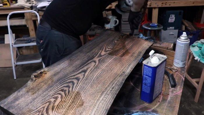 Как сделать бревенчатую скамью в современном деревенском стиле