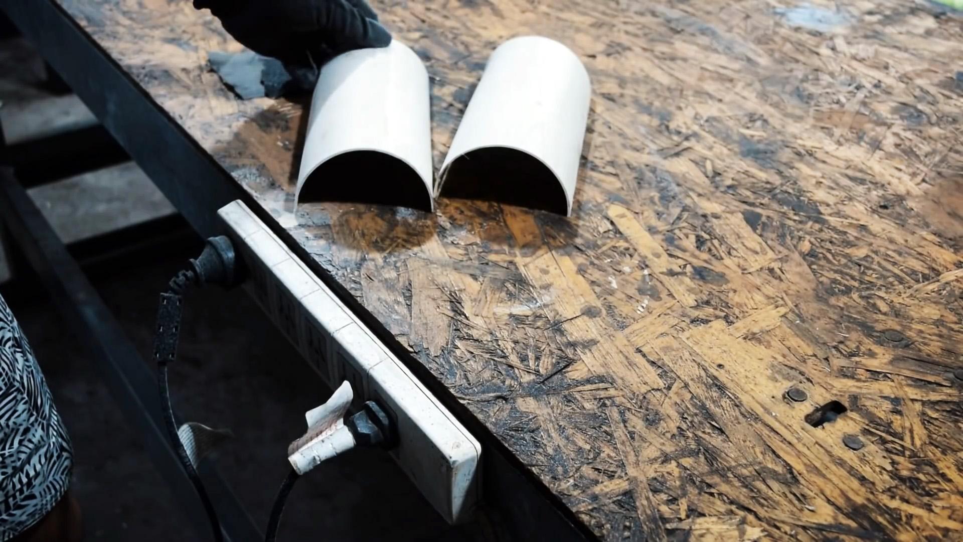 Как сделать ножны любой формы из ПВХ трубы
