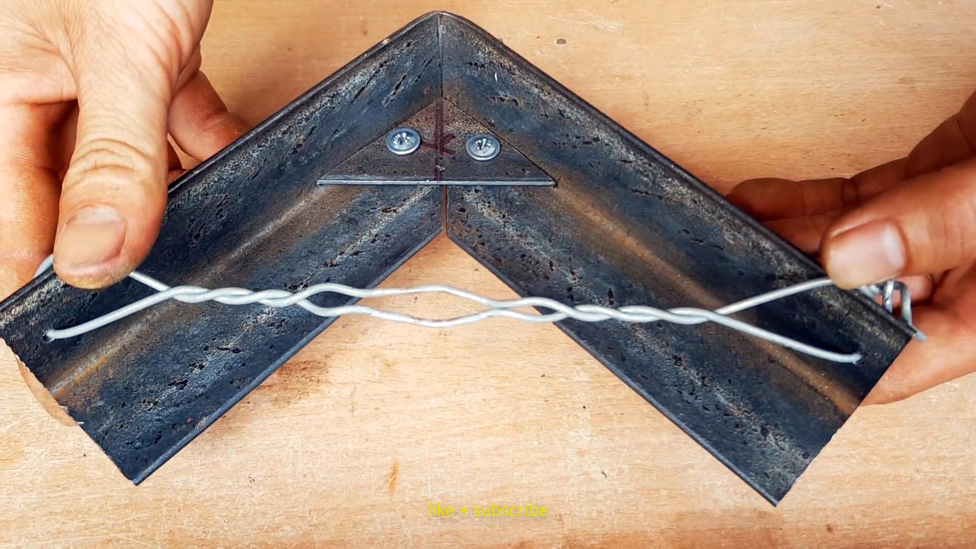 Как сделать прямой угол с уголка без сварки