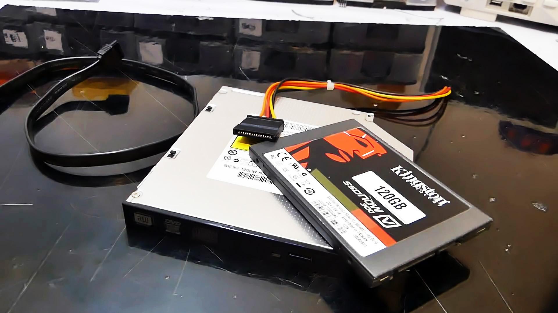Как модернизировать старый ноутбук, заменив DVD привод на SSD