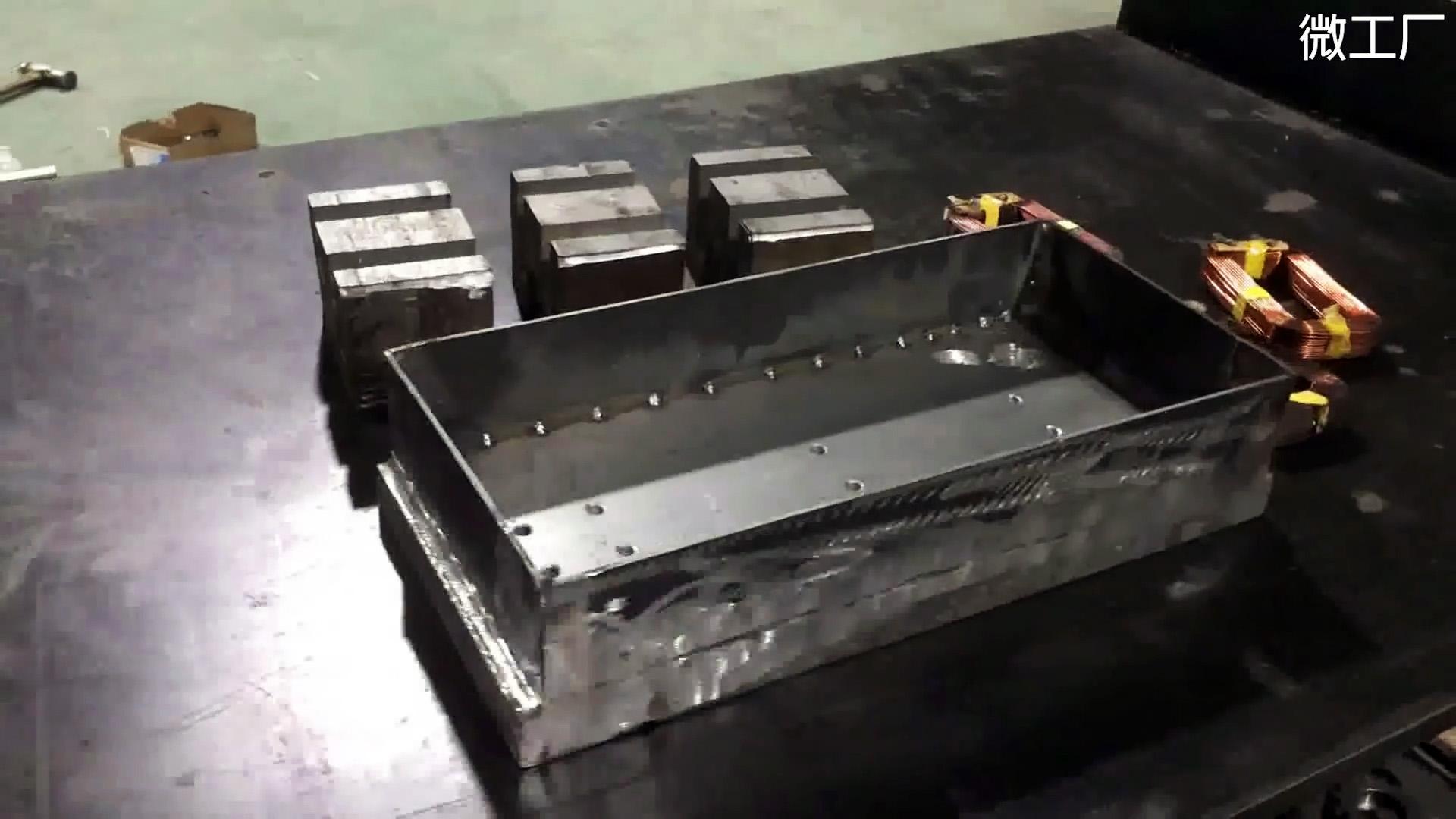 Магнитная плита из трансформаторов микроволновки
