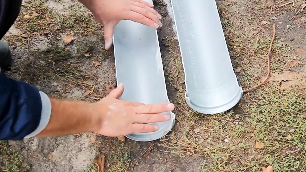 Как сделать самые бюджетные пластиковые водостоки