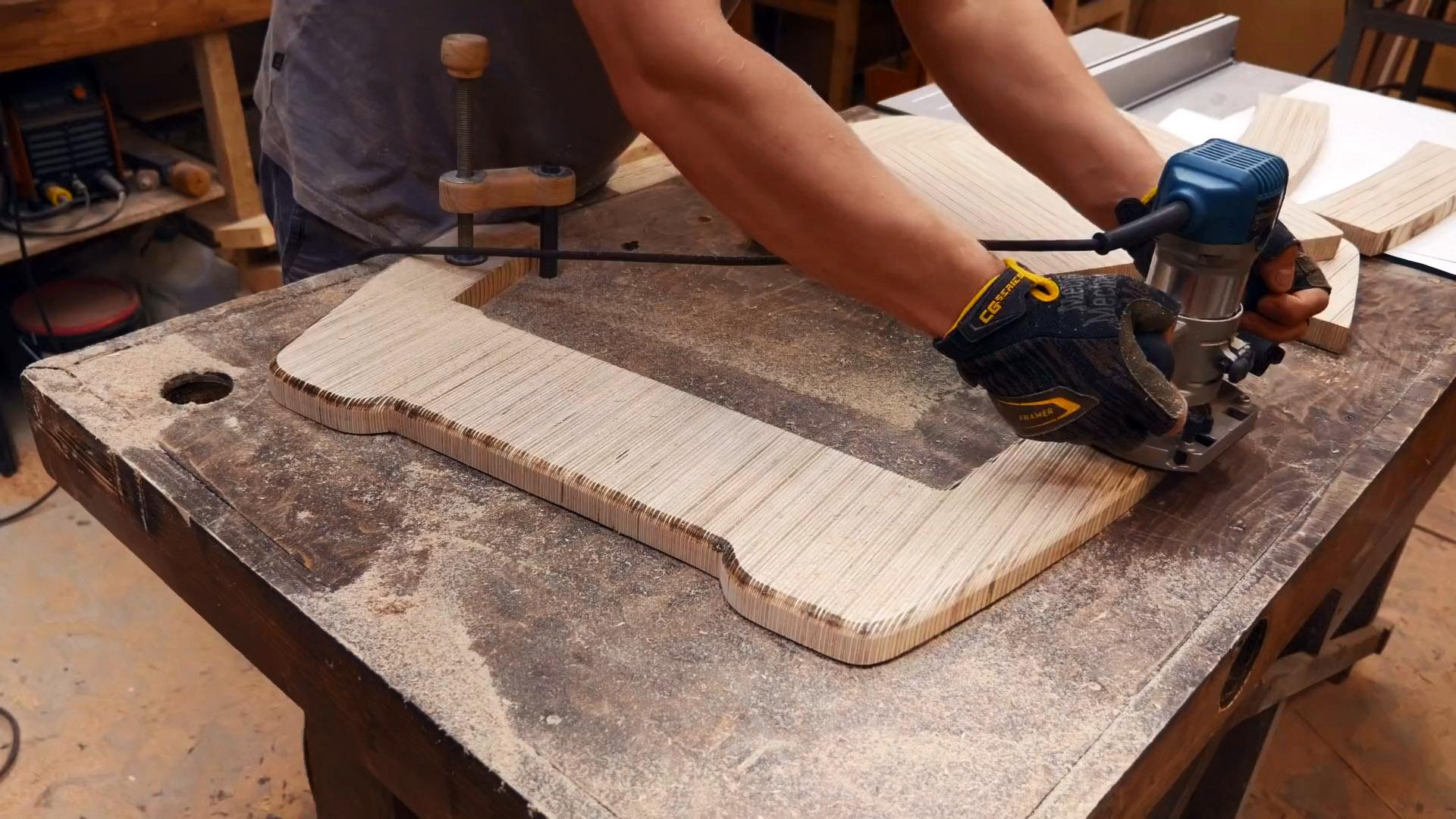 Как из обрезков фанеры сделать складное кресло